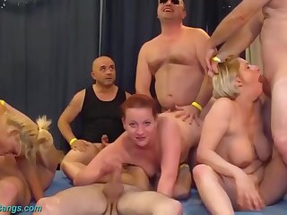 Extremist german fisting swinger club combo unite orgy