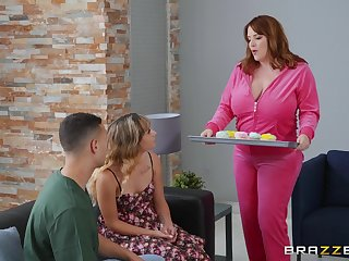 Chubby MILF is keen to strive daughter's boyfriend be advantageous to a few fuck rounds