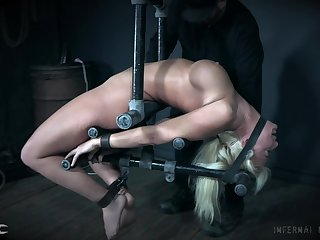 Extreme hardcore painful bondage for blonde MILF London River