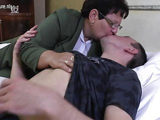 Taboo mature MOM fucks her young boy