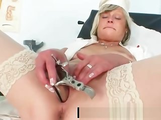 Filthy be enamoured of milf Nada fucks herself