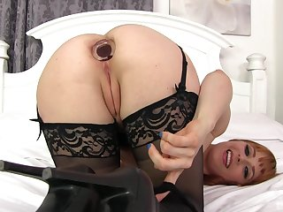 Penny Pax stuffs her ass with a but plug and a big dick