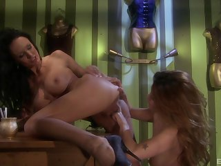 Busty lesbian mature MILF babes Charmane Star and Alektra Blue