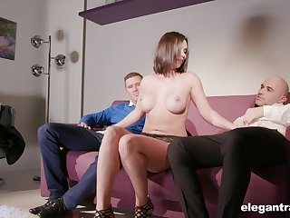 Lovely Alysa Gap gets her supreme butt banged by a handsome lady's man