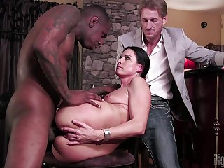 Slutty MILF India Summer cuckolds her husband with a black monster learn of