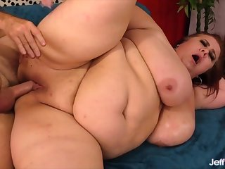 Sexy grown-up BBWs takes stirred and thick dicks inside her plump pussy and get fucked good