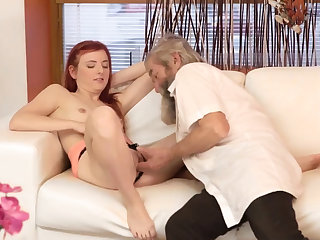 Teen old doctor Unexpected assiduity with an older