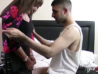 Sex-starved German widow Pandora is fucked hard by young Turkish man