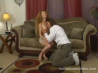 Impoverish alongside steel dick shows this busty doll proper sex