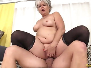 Golden Slut - Horny Senior Cowgirls Compilation Fastening 14